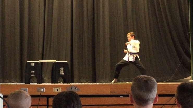 Alex dazzles the crowd at Grasse Elementary (6-18-19)